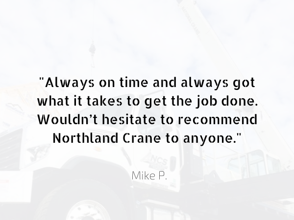 Northland Crane - high quality crane service