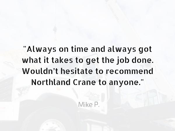 Northland Crane - high quality crane service