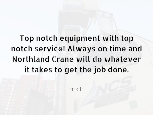 Northland Crane - expert crane service